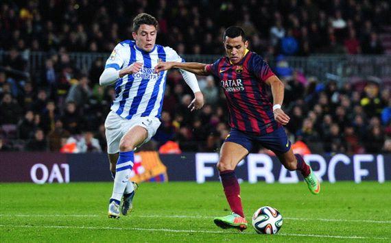 Gorka Elustondo Alexis Sanchez Barcelona Real Sociedad Copa del Rey 02052014