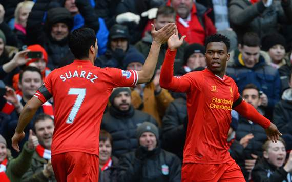 Luis Suarez Daniel Sturridge  Liverpool  Arsenal  Premier League 02082014