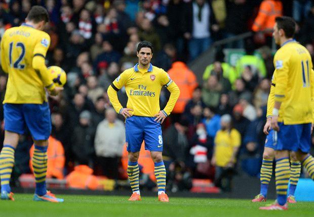 Arteta urges Arsenal to react after 'car crash' defeat to Liverpool