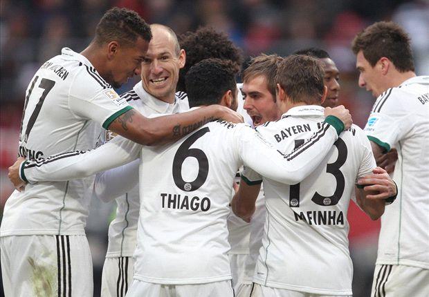 Große Freude beim FC Bayern über den Sieg im Derby