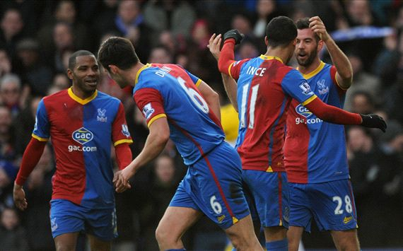 Joe Ledley Thomas Ince Crystal Palace West Bromwich Albion Premier League