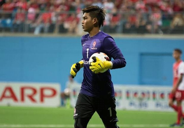 Izwan started the game for Singapore against the French Under-21 side.