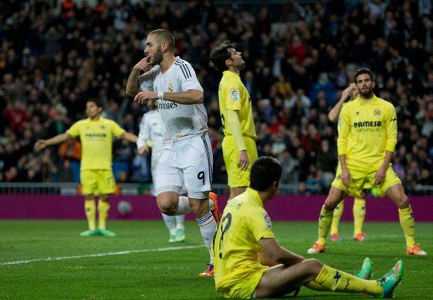 Benzema, bigoleador ante el Villarreal