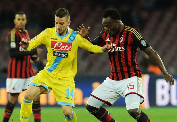 Napoli 3-1 AC Milan: Essien's debut ends in defeat