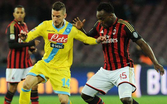 Dries Mertens Michael Essien Napoli Milan Serie A 02082014