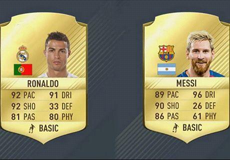 Ronaldo, Messi, Lewandowski : l'évolution de leur note de FIFA 13 à FIFA 17