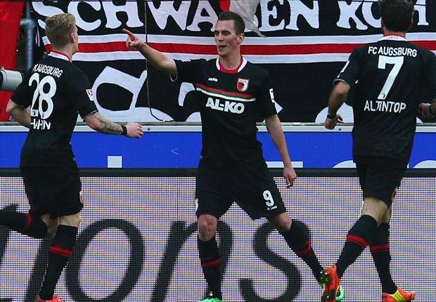 Der Augsburger Arkadiusz Milik hat gegen den VfB Stuttgart in der Bundesliga getroffen