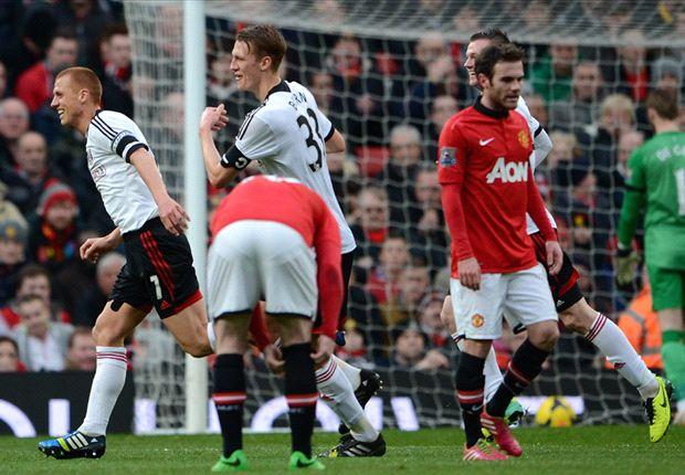 Manchester United 2-2 Fulham: Last-gasp Bent equaliser stuns Old Trafford