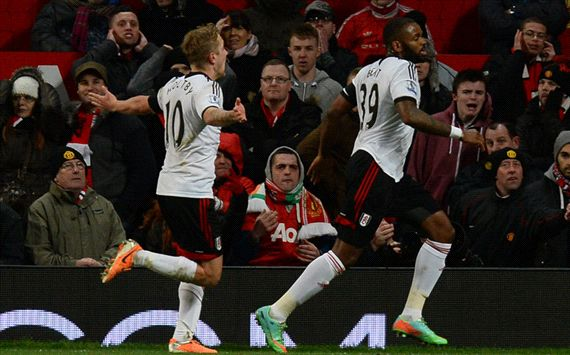 Darren Bent Manchester United Fulham English Premier League 02092014