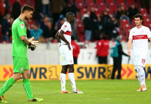 Robin Yalcin (r.) war bei seinem Bundesliga-Debüt sprachlos aufgrund der Leistung des VfB Stuttgart