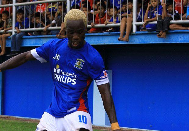 Ansu Toure mencetak gol penentu kemenangan Persiba atas Pusam.