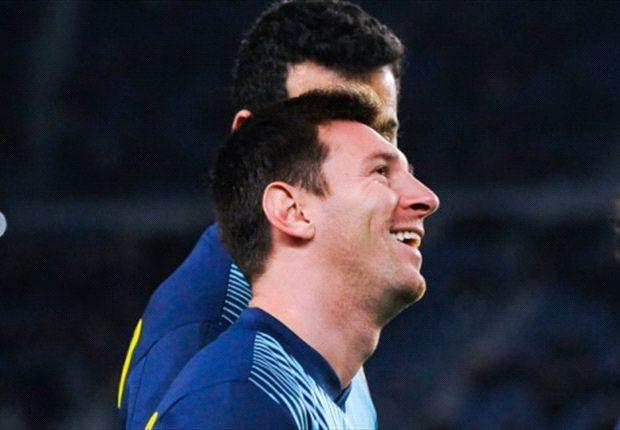 Leo fue la gran figura de la tarde en el Camp Nou