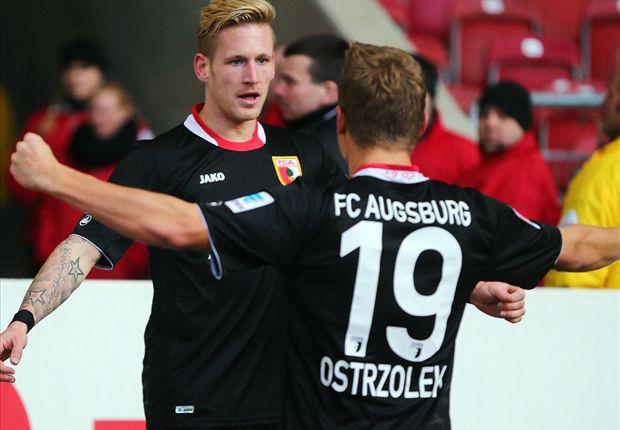 Torschütze und Vorbereiter: Andre Hahn feiert mit Ostrzolek ein Tor gegen den VfB