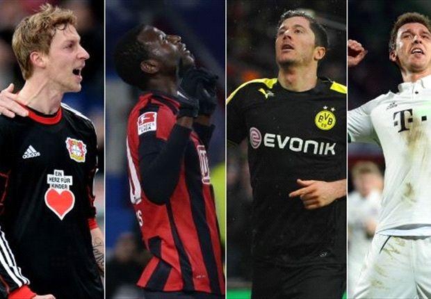 Den Blick nach oben gerichtet: Die Top-Torjäger der Bundesliga