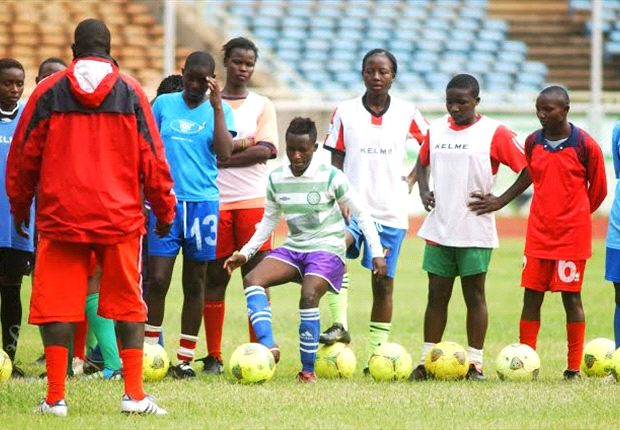 Harambee Starlets training at Kasarani before departing for Kigali, Rwanda.