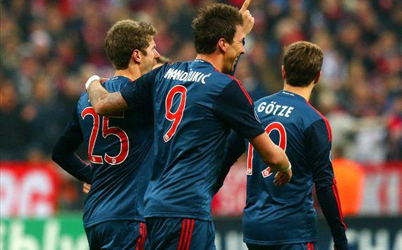 FC Bayern Munchen Thomas Muller Mario Mandzukic Mario Gotze Champions League