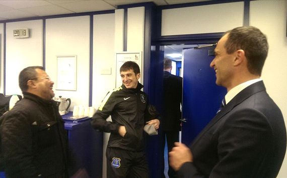 Everton's fan with Martinez and Baines