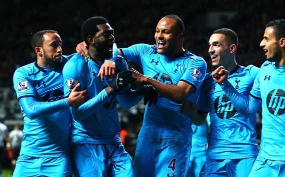 Emmanuel Adebayor  Younes Kaboul  Newcastle United  Tottenham  Premier League 02122014