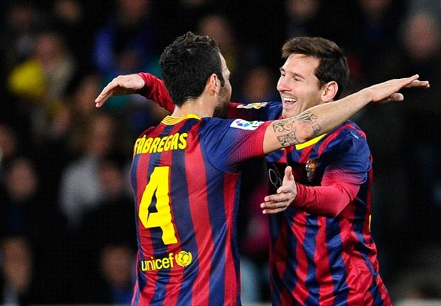 Fabregas: Messi carrying Barcelona