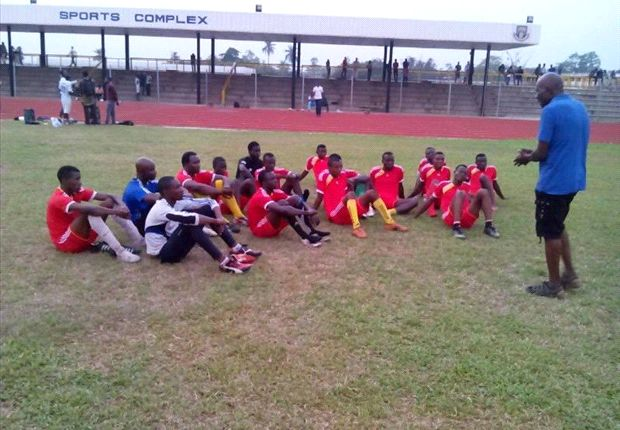 Coach Egbunu-Olimene with his boys