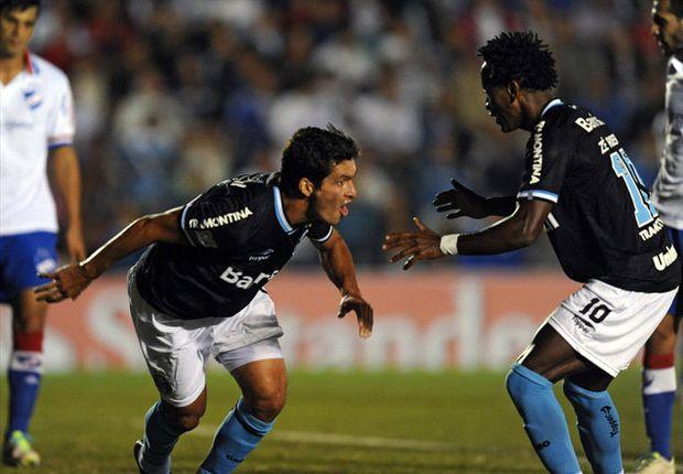 El paraguayo Cristian Riveros anotó el gol de Grêmio.