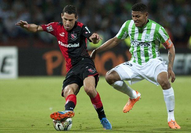 Copa Libertadores Atlético Nacional v Newell's Maxi Rodríguez y Alexander Mejia