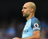 Inter at Camp Nou for Zabaleta talks