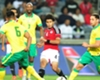 Clayton Daniels and Dean Furman of South Africa against Egypt