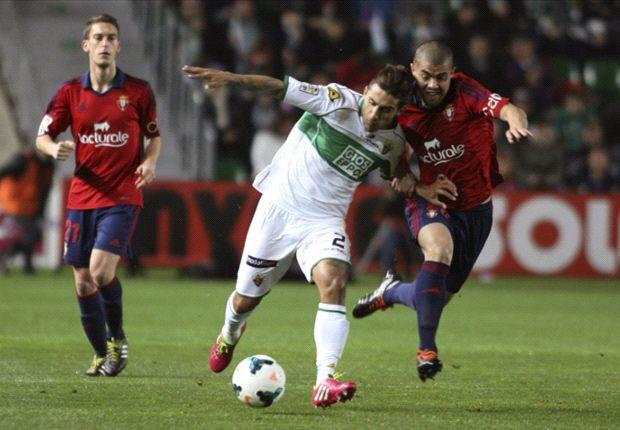 Elche 0-0 Osasuna: Coro desaprovecha la oportunidad de alejarse del descenso