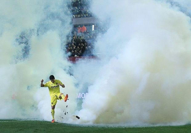 Smoke bomb suspends Villarreal's game against Celta