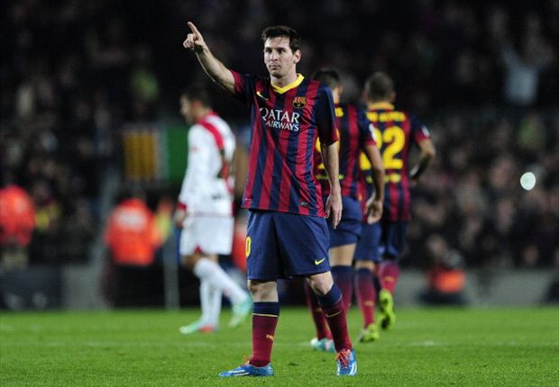 Beim 6:0-Erfolg über Vallecano erzielte Messi zwei Tore