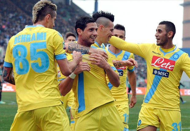 Napoli venció 2-0 a Sassuolo