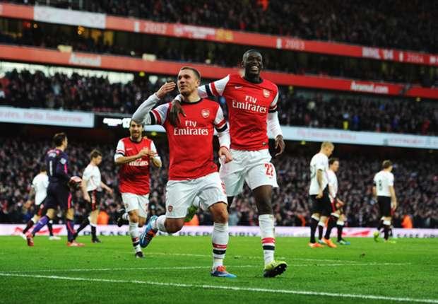 Lukas Podolski erzielte das Siegtor für den FC Arsenal