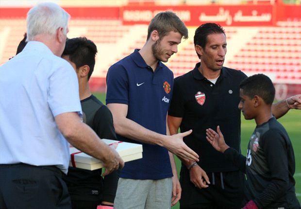 De Gea visits Al Ahli youth academy during Dubai trip