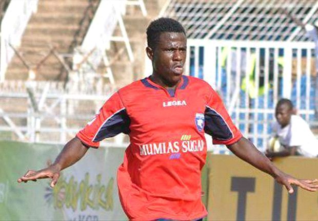 AFC Leopards' winger Paul Were celebrates a goal in a past league match.