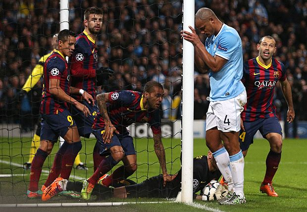 Barcelona were 'there for the taking', says Manchester City captain Kompany