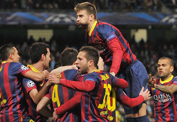 Manchester City 0-2 Barcelona: Messi and Alves capitalize on Demichelis sending off