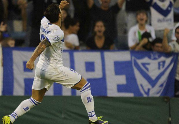 Zárate puso el 1 a 0 y fue una de las figuras del partido.