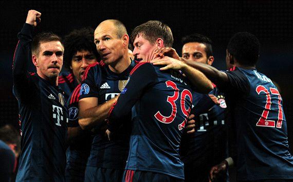Arjen Robben Toni Kroos Arsenal FC Bayern Muenchen UEFA Champions League 19022014