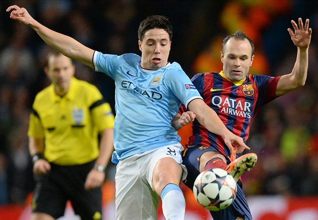 Nasri: Barcelona clash the best way to bounce back