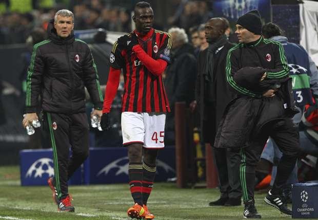 Milan ace Balotelli ruled out of Juventus clash