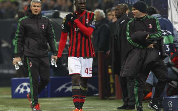 Milan striker Mario Balotelli