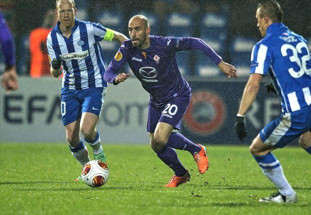 Esbjerg 1-3 Fiorentina: Matri, Ilicic & Aquilani fire Viola to simple victory