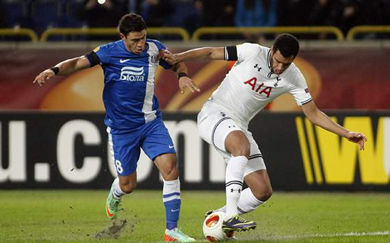 Victor Giuliano Etienne Capoue Dniepropetrovsk Tottenham Europe League 02202014