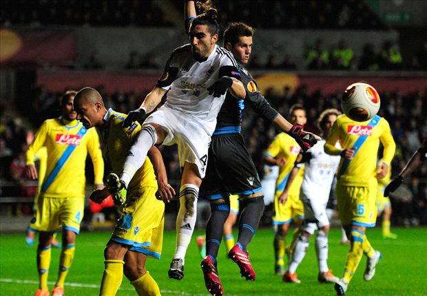 Napoli in Europa League danger after Swansea draw, says Benitez