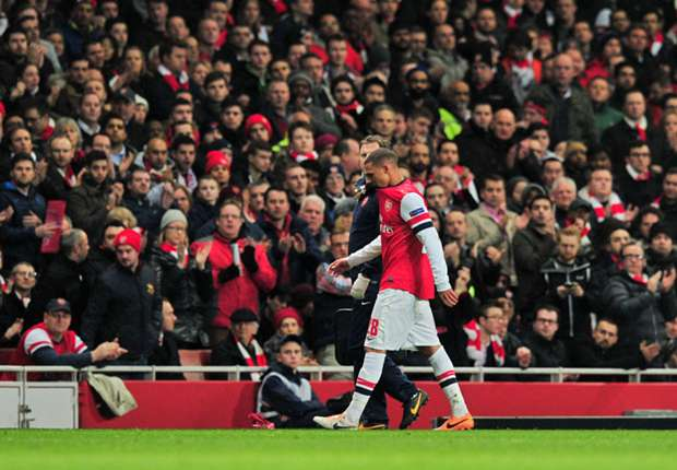Gibbs to miss Arsenal-Sunderland clash through injury