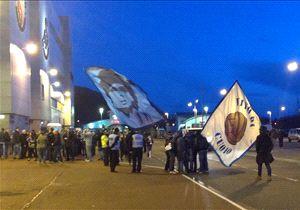 I tifosi del Napoli in strada