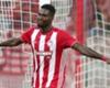 Brown Ideye congratulates Olympiacos