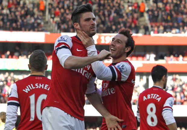 Premier League Team of the Week: Star man Giroud joined by Sturridge & Wilshere