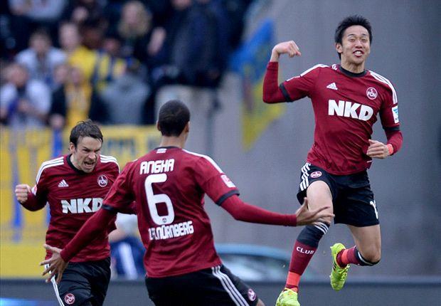 Hiroshi Kiyotake vergab zwar einen Elfmeter, feierte mit Nürnberg aber einen Sieg
